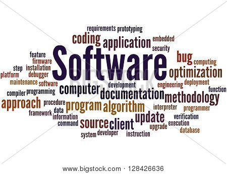 Software, Word Cloud Concept