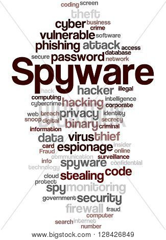 Spyware, Word Cloud Concept 3