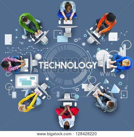 Technology Connection Networking Digital Concept