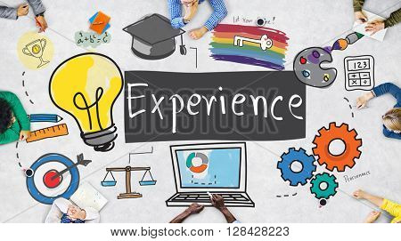 Experience Learning Exposure Drawing Icon Concept