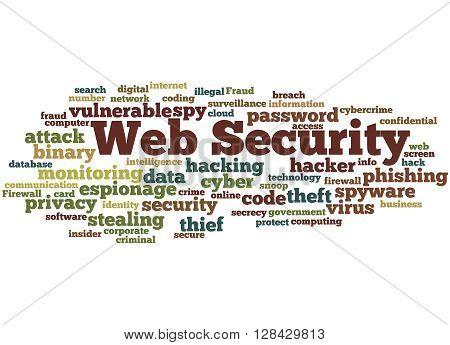 Web Security, Word Cloud Concept 6
