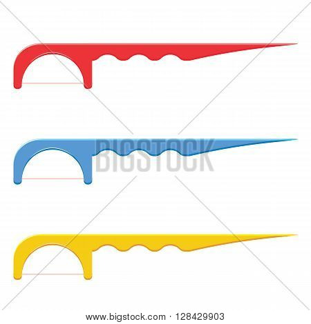Floss toothpick vector illustration isolated on a white background