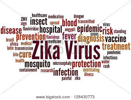 Zika Virus, Word Cloud Concept