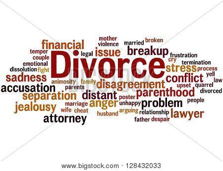 Divorce, Word Cloud Concept 2