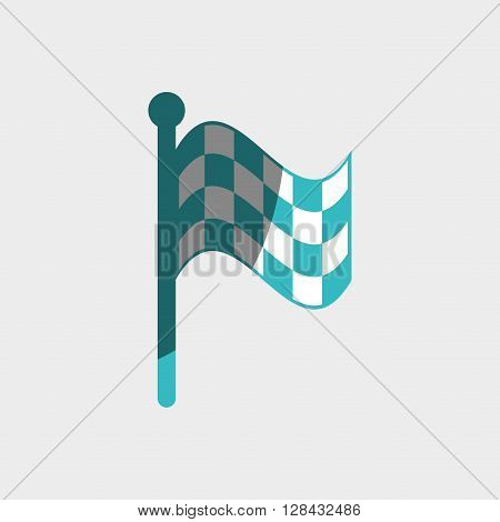 checkered flag design, vector illustration eps10 graphic