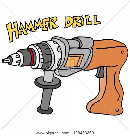 An image of a hammer power drill.
