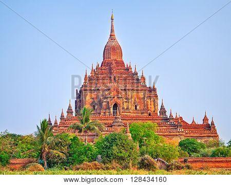 Htilominlo Temple in Bagan. Myanmar. Panorama