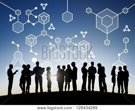 Molecular Structure Chemistry Science Experiment Concept