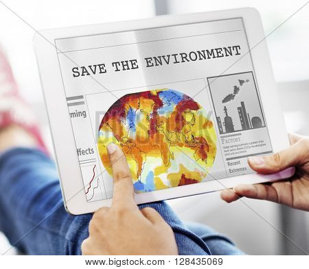 Save Environment Conservation Resources Global Concept