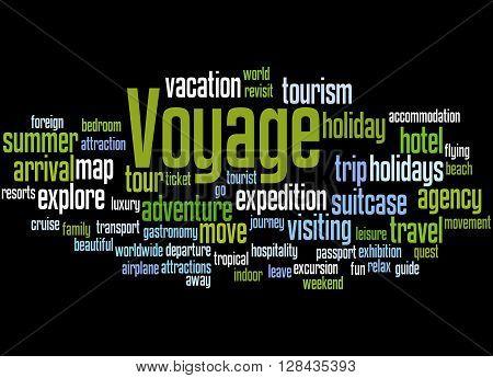 Voyage, Word Cloud Concept 4