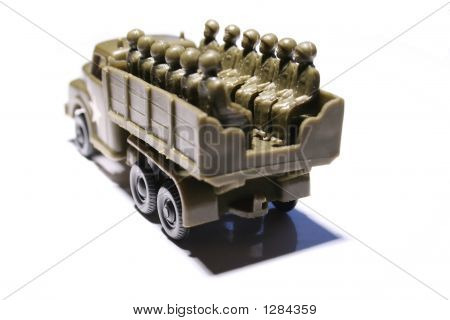 Toy Truck With Soldiers