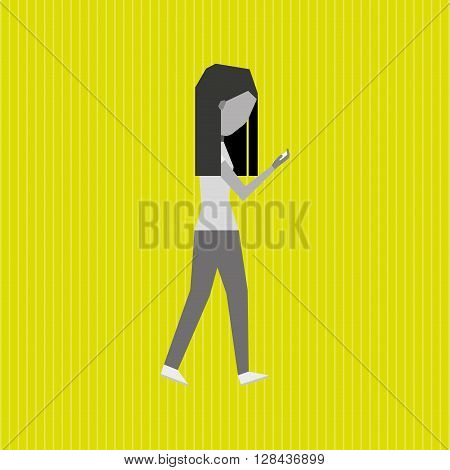 addiction to cell design, vector illustration eps10 graphic