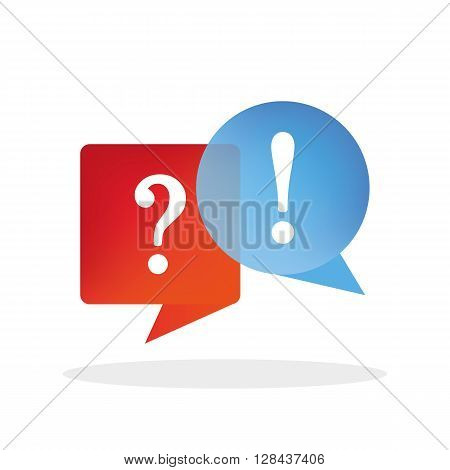 Question and answer vector illustration isolated on background