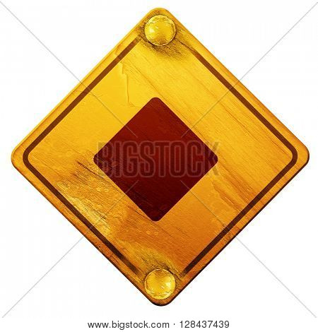 Diamond card background, 3D rendering, isolated grunge yellow road sign
