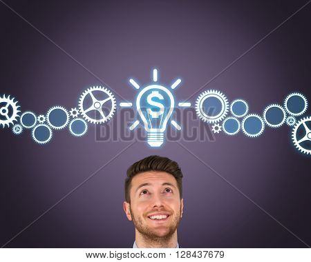 Finance New Bright Idea Working Conceptual Business Concept