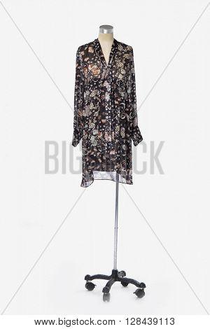 female sundress clothing on dummy - full-length
