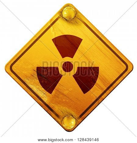 Nuclear danger background, 3D rendering, isolated grunge yellow