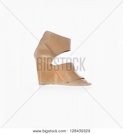 high heel women shoe isolated