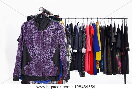 different clothes for females rack display-white background