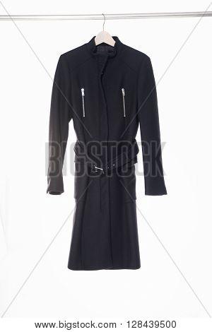 Female black clothing on hanging