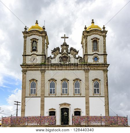 Facade of the famous church of Ouer Lord of Bonfim in Salvador Bahia