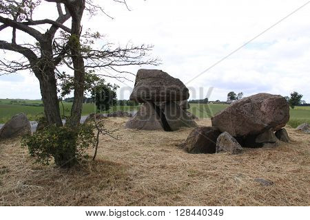 Long barrow from ancient time used for burials