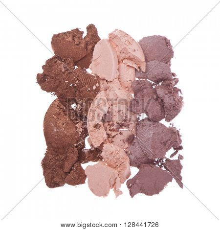 cream eyeshadows  isolated on white background