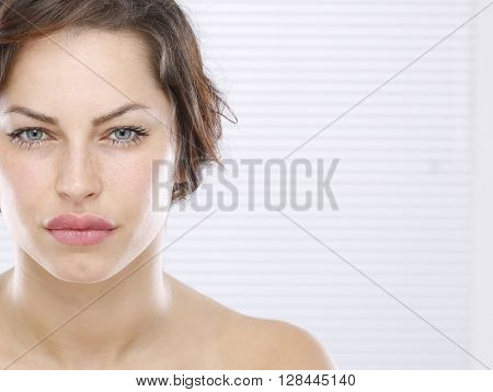 Nice young woman face