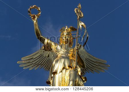 golden Victory Column (Siegessaeule) in Berlin Germany