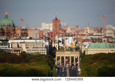 Berlin City Skyline - Brandenburg Gate