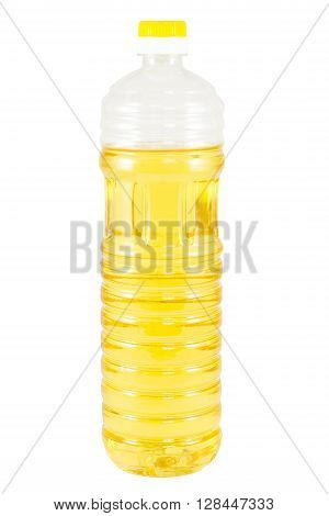 A bottle of Cooking Oil isolated on white background