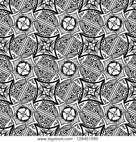 Abstract background seamless beautiful pattern. Tribal antique style. Elegant design