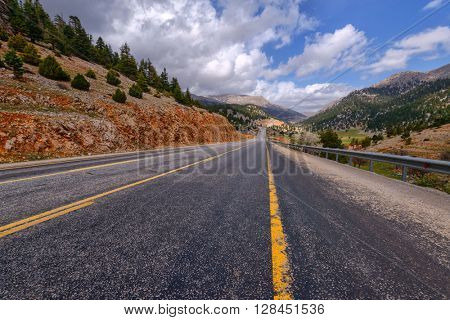 highway in the high mountain