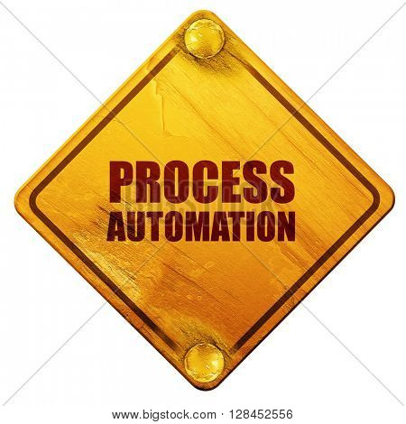 process automation, 3D rendering, isolated grunge yellow road si