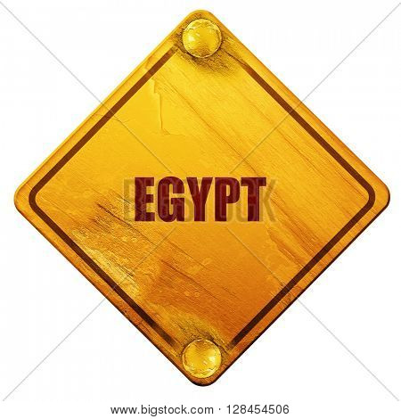 Greetings from egypt, 3D rendering, isolated grunge yellow road