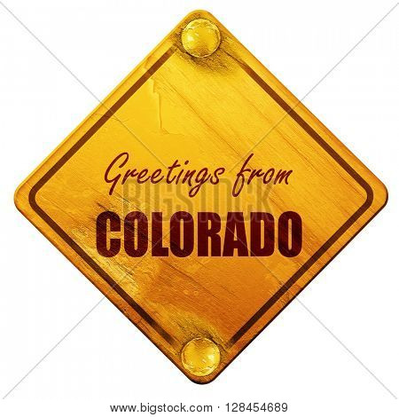 Greetings from colaroda, 3D rendering, isolated grunge yellow ro