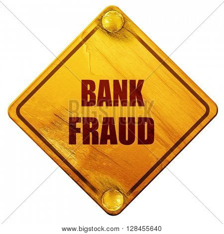 Bank fraud background, 3D rendering, isolated grunge yellow road