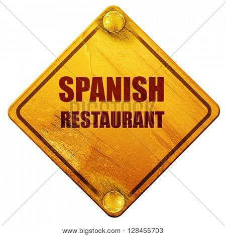 Delicious spanish cuisine, 3D rendering, isolated grunge yellow