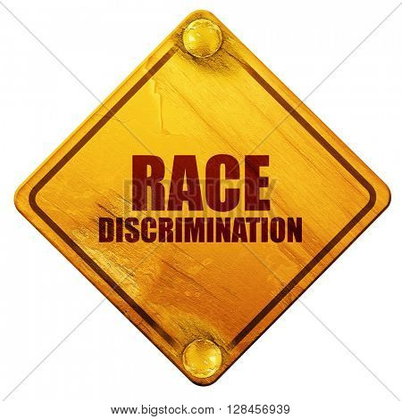 race discrimination, 3D rendering, isolated grunge yellow road s