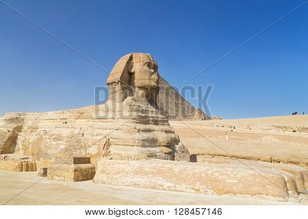 Tourists around the Great Sphinx of Giza, Egypt.