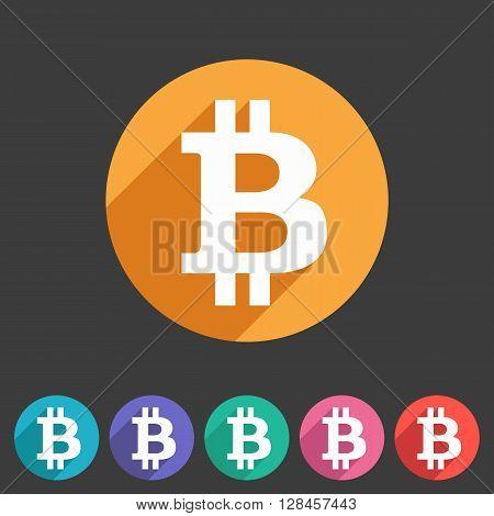 Bitcoin icon iweb sign symbol logo label set