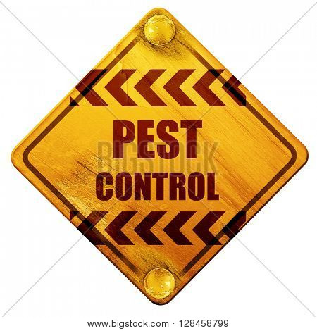 Pest control background, 3D rendering, isolated grunge yellow ro