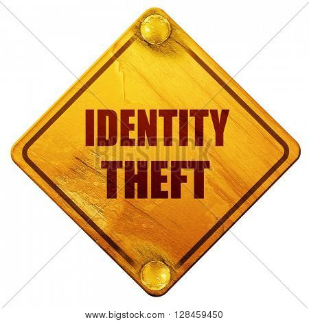 Identity theft fraud background, 3D rendering, isolated grunge y