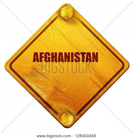 Greetings from afghanistan, 3D rendering, isolated grunge yellow