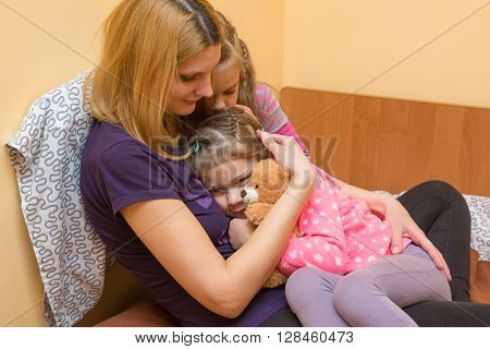 My Mother And Older Sister Comforted The Little Girl
