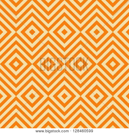 Ethnic tribal zig zag and rhombus seamless pattern. illustration for beauty fashion design. Yellow orange colors. Vintage stripe style.