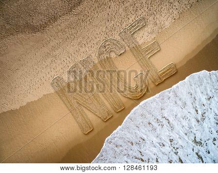 Nice written on the beach
