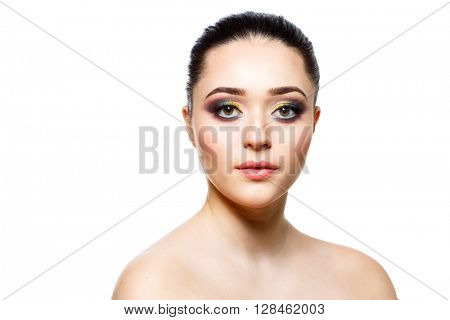 Face of beautiful young woman.