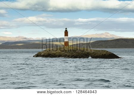 Les Eclavireurs Lighthouse, Beagle Channel, Tierra del Fuego, southern Argentina