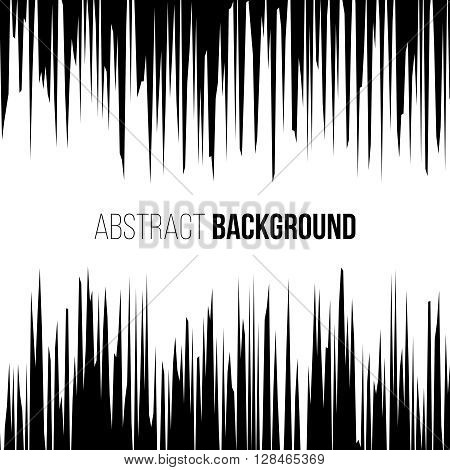 Abstract comic book black and white explosion vertical speed lines background. Vector illustration